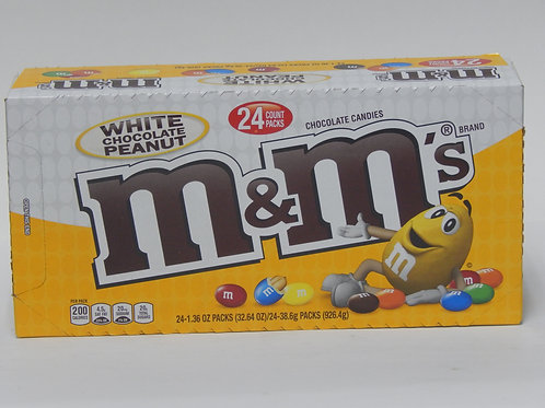 M&M White Chocolate Peanut (Case of 24)
