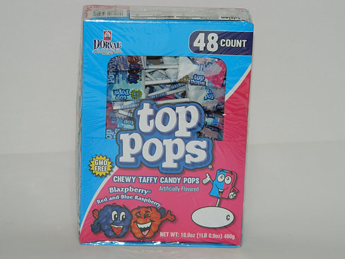 Top Pops - Blue and Red Raspberry (48 ct.)
