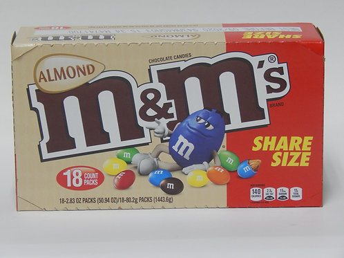 Share Size M&M Almond (Case of 18)