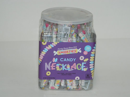 Smarties Candy Necklace Bucket (36ct)