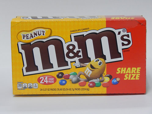Share Size M&M Peanut (Case of 24)
