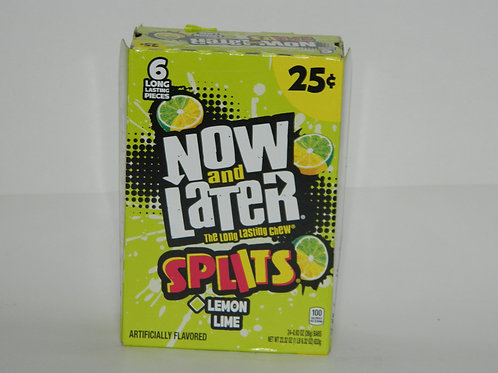 Now and Later - Splits Lemon Lime (24ct)