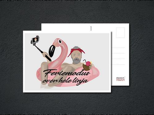 Feriemodus postkort