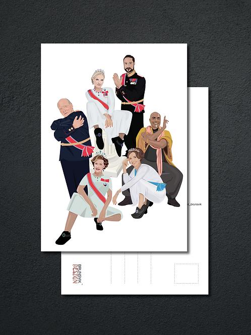 Norwegian Royal Squad Postkort