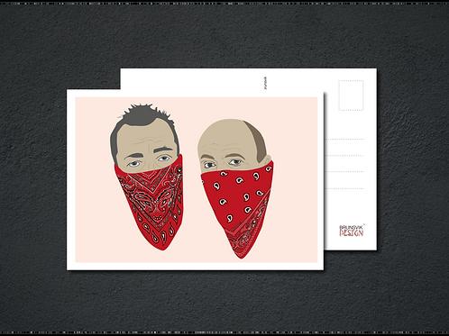 Polti & røver postkort