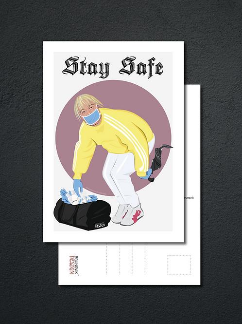Stay Safe postkort