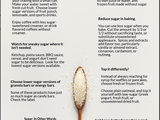 Sweet Tips To Eat Less Sugar