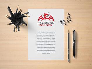 עיצוב לוגו לשיווק דיגיטלי - ניירת עסקים.