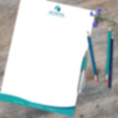 עיצוב נייר מכתבים למאמנת