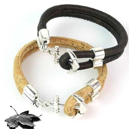 "Bracelet liège ""Ancre marine"""