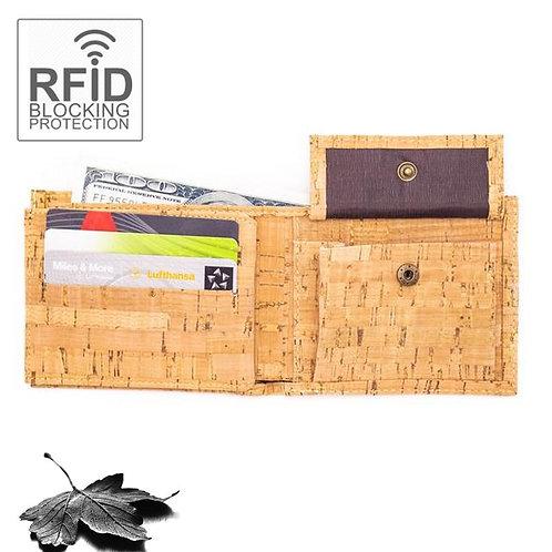 """Portefeuille en liège """"Naturel"""" -RFID Protection"""