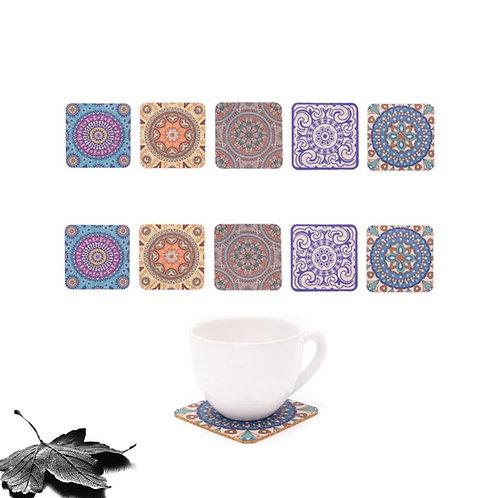 Sous-verres liège - Azulejos (x10)
