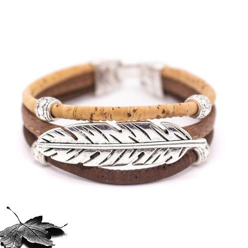 Bracelet liège  Dégradé - Feuille