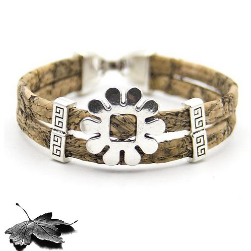 "Bracelet liège ""Fleur"""