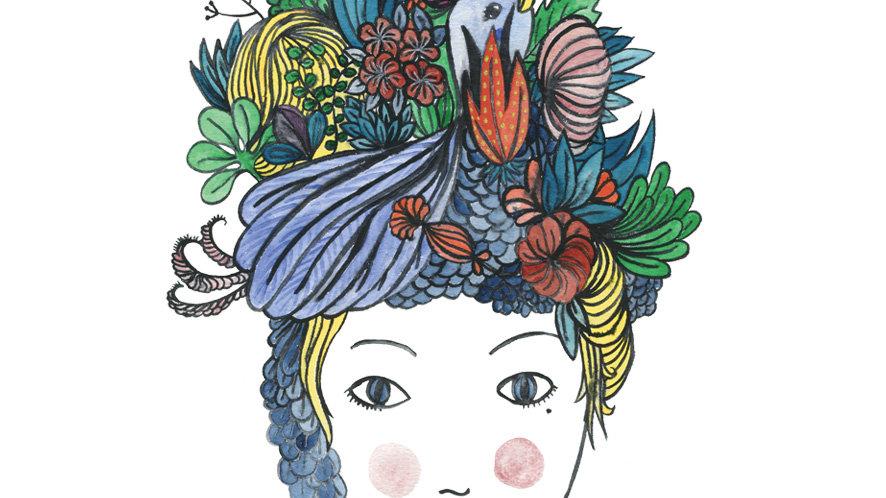 """Affichette """"La jeune fille en fleurs"""""""