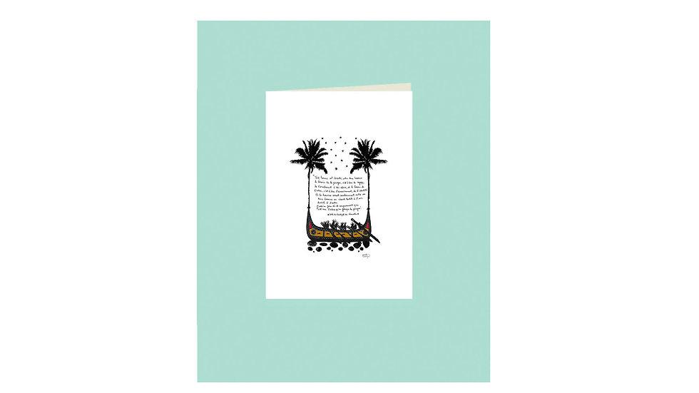 """Carte postale """"l'arbre et la pirogue"""""""
