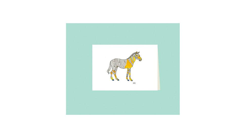 """Carte postale """"zèbre des sables"""""""