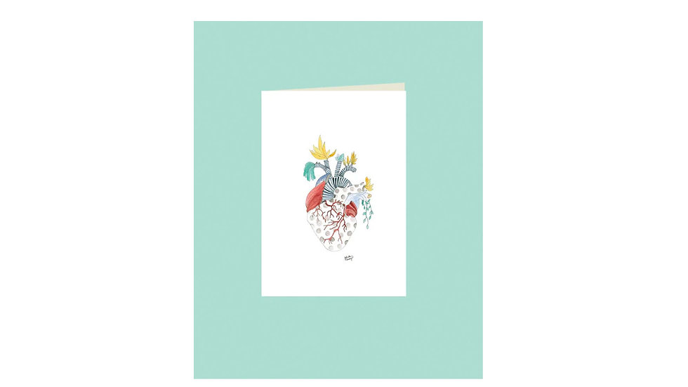 "Carte postale ""coeur végétal"""