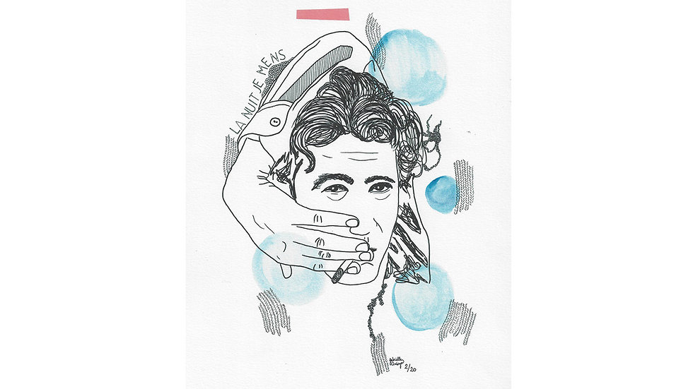 "Affichette ""Alain Bashung"""