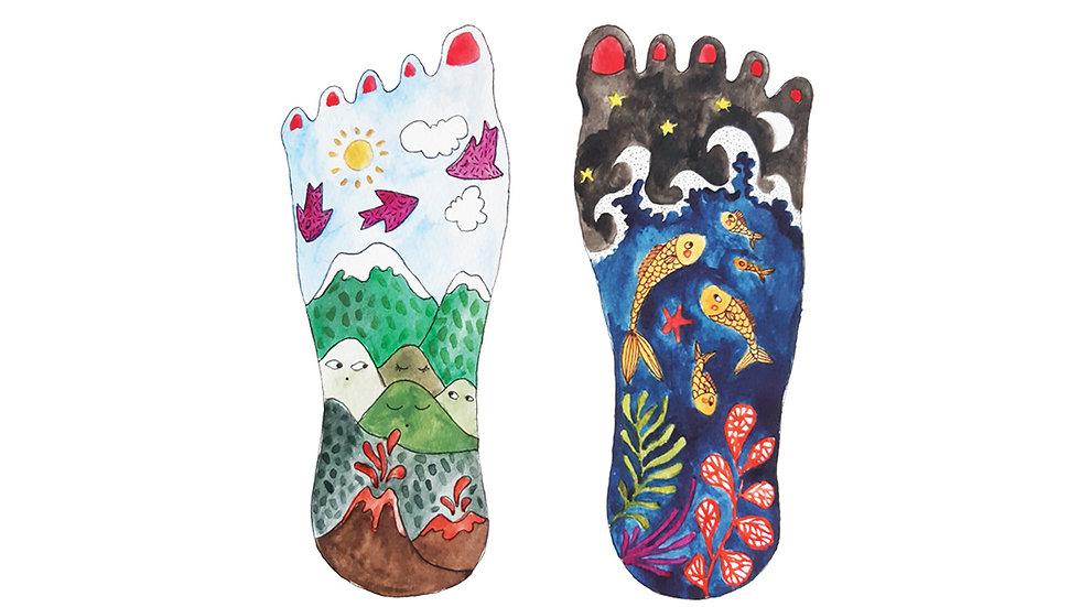 "Affichette ""Tes pieds"""