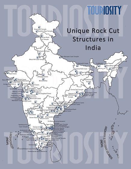 Unique Rock cut structures in India