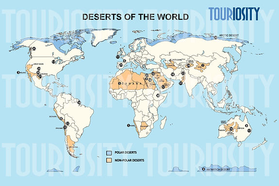 Deserts of the world - Polar vs Non-polar