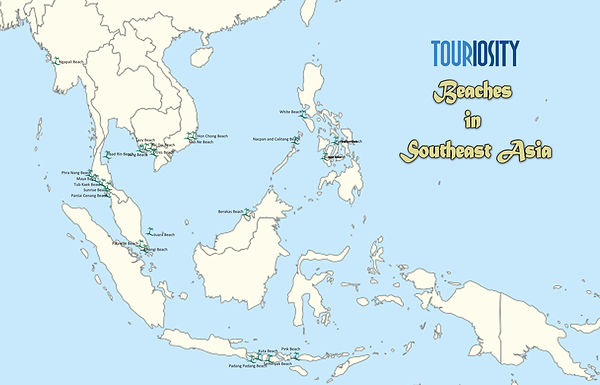 Important beaches of Southeast Asia