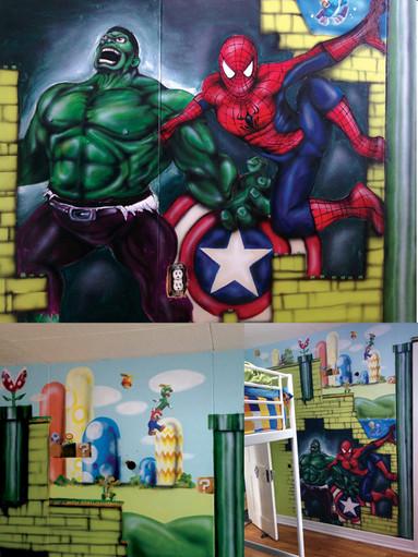 montage murale mario avenger lego copie.