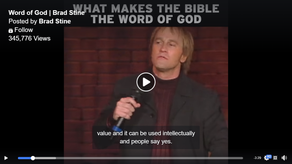 What makes the Bible                      the Word of God