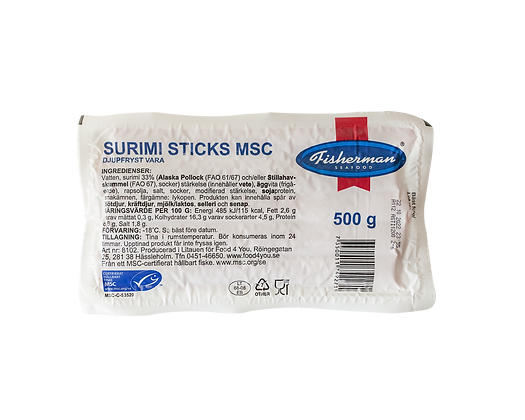 Surimi sticks MSC 500g