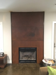Steel Fireplace, Ashville, NC