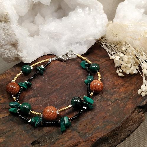 Bracelet double malachite