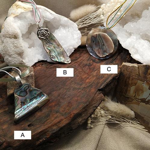 Pendentif nacre abalone B
