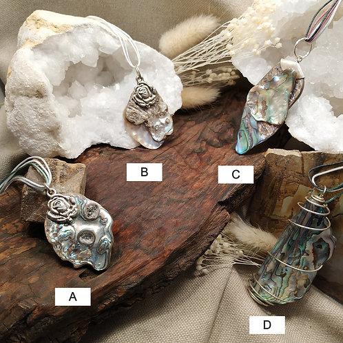 Pendentif nacre abalone A