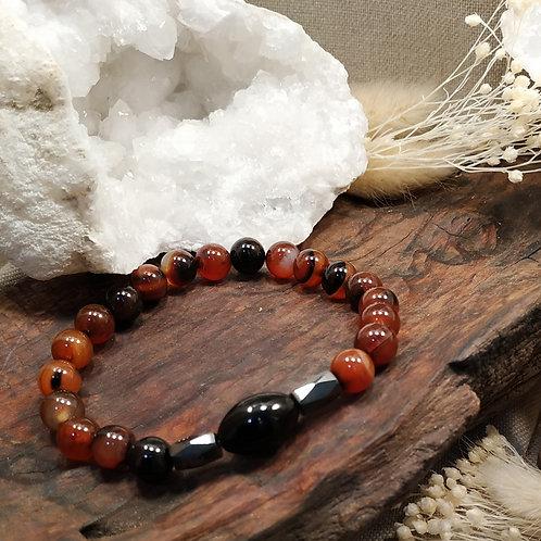 bracelet cornaline onyx
