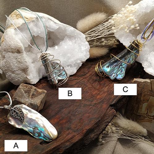 Pendentif nacre abalone C
