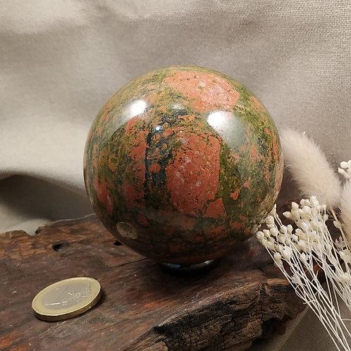 Unakite sphère