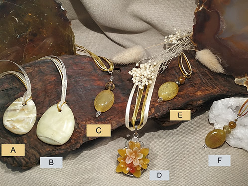pendentif opale jaune A