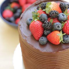Chocolatudo com frutas vermelhas