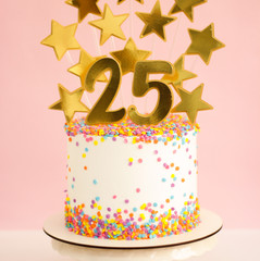 Topo de bolo 25 anos