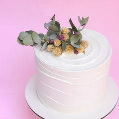 Wave Cake com flores