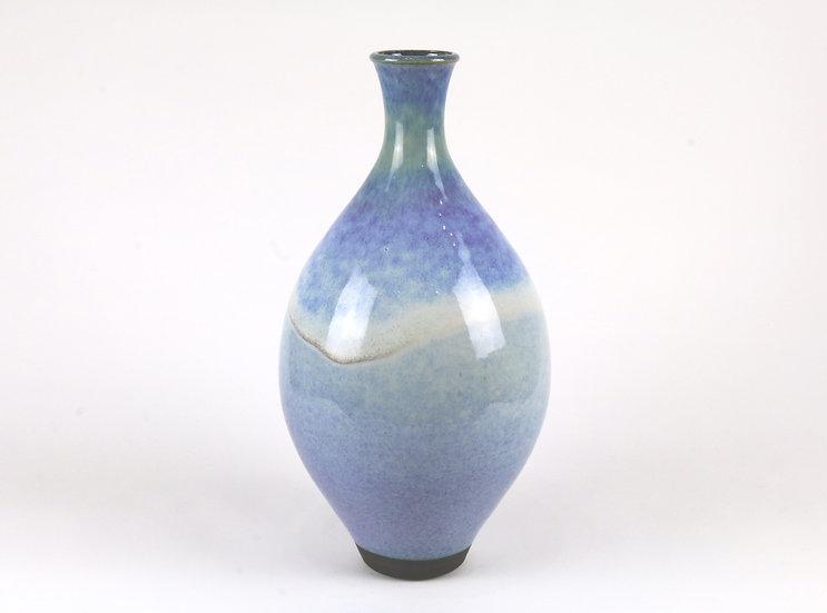 Stoneware Bottle with Rutile Glaze