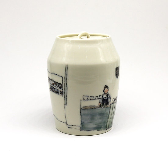 Monmouth Coffee Jar | By Helen Beard