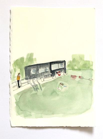 'Ponds' Sketch | By Helen Beard