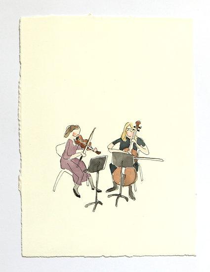 'Musicians' Sketch | By Helen Beard