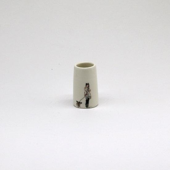 Small Dog Walker Pot | By Helen Beard
