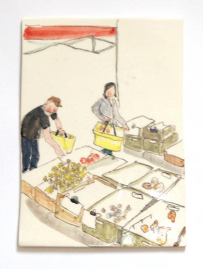 Farmers Market Tile | By Helen Beard