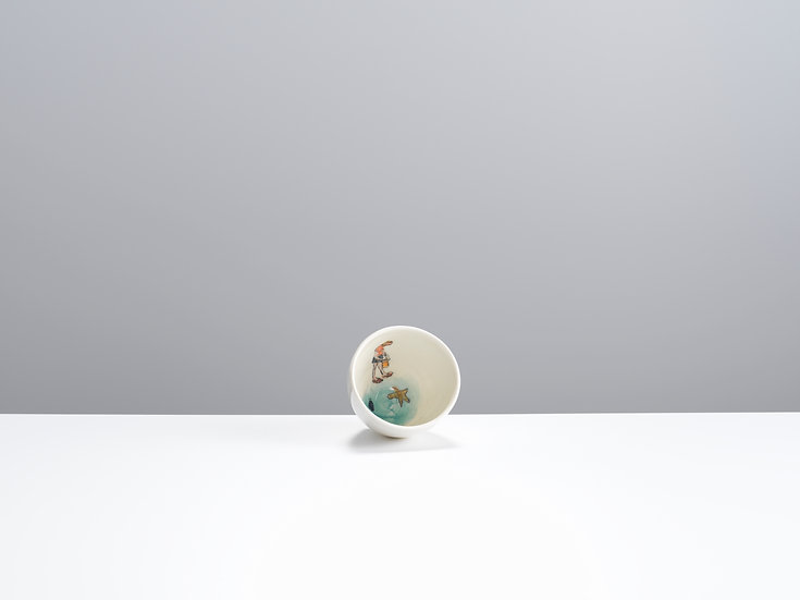 Child and Starfish Small Bowl | By Helen Beard