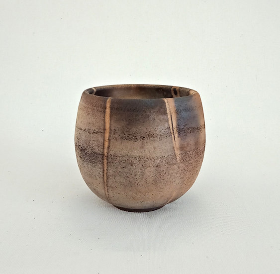 White Raku - Smoke Fired Vessel | By Christine Murphy