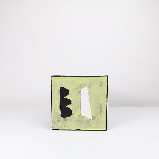 Large Tile with Bracket   By Clementina Van Der Walt